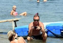 Sıcak hava nedeniyle Marmaris plajları doldu