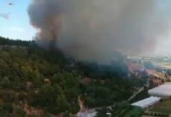 Perge Antik Kenti yakınında yangın söndürüldü