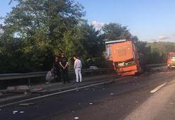 D100de korkutan kaza: TIRa arkadan çarpınca...