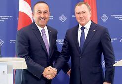 Çavuşoğlu  Lukaşenko ile görüştü