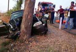 Otomobil ağaca çarptı: 3 ölü, 1 yaralı