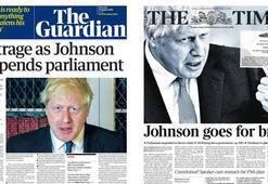 Parlamentonun askıya alınması İngilterede manşetlerde: Demokrasiye hakaret