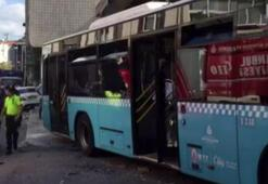 İstanbulda halk otobüsü evin duvarına çarptı Yaralılar var