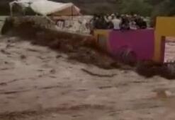 Fasta sel stadı yıktı