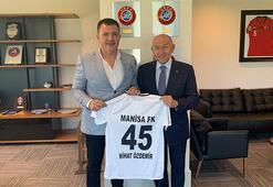 Manisa FKdan TFF Başkanı Özdemire ziyaret