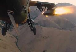 Kıran Operasyonuna Atak helikopterlerinden hava desteği