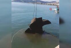 Batık gemiyi çıkartma çalışmaları başladı