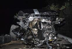Faciaya kıl payı Şoför son anda kurtuldu