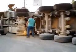 Arnavutköyde hafriyat kamyonu dehşeti