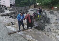 Trabzonda şiddetli yağış hasara yol açtı