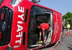 Kazaya giden itfaiye ekibi kaza yaptı Yaralılar var