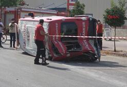 Adanada CANKUR ekibi kaza yaptı: 5 yaralı