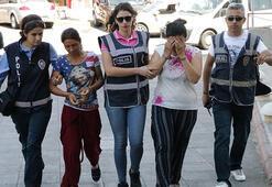 Gezici hırsızlık şebekesindeki 2 kadın yakalandı