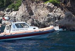 Teknede korkutan yangın