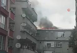 Esenyurt'ta boşaltılan binada yangın paniği