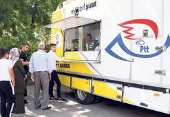 Mobil PTT aracı ile 5 milyon işlem