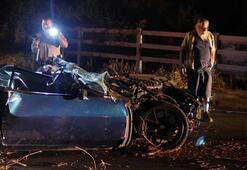 Ünlü oyuncu kaza geçirdi, klasik otomobili hurdaya döndü