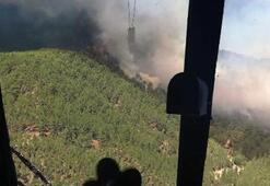 Son dakika | Kaşta korkutan yangın Ekipler sevk edildi