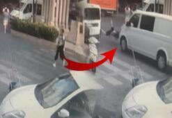 Yaya geçidinden geçmeye çalışan genç kıza minibüs çarptı