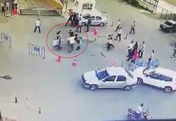 Hastane bahçesinde trafik kazası sonrası tekmeli sopalı kavga çıktı