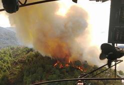 Marmaris'te orman yangını başladı