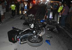 İki motosiklet kafa kafaya çarpıştı 2 ölü var