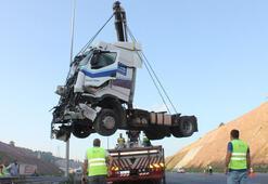 TIR ile kamyon çarpıştı Yaralılar var...