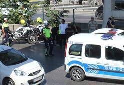 Aniden kapısını açan otomobil yüzünden trafik polisi canından oluyordu