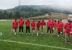 Ampute Milli Futbol Takımının Düzce kampı sürüyor
