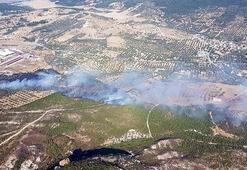 Son dakika| İzmirde makilik alanda yangın 3 helikopterle müdahale edildi