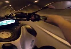 Tek teker üzerinde 125 km hızla giderken...