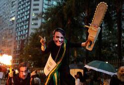 Brezilya Amazon yangınları için ayakta