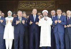 Cumhurbaşkanı Erdoğan, Abdülhakim Sancak Camiini törenle açtı Caminin özellikleri dikkat çekti