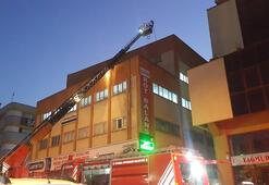 İstanbuldaki iş merkezinde korkutan yangın