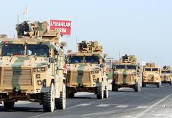 Ortak devriye öncesi sınıra askeri sevkiyat