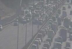 Fatih Sultan Mehmet köprüsü üzerinde hareketli dakikalar