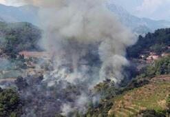 Antalyada yangın 2 saat sürdü