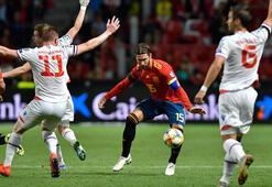 İspanya farka koştu, Ramos tarihe geçti