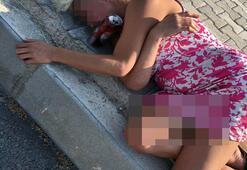 Yolda sızıp kalan kadını sağlık ekipleri uyandırdı