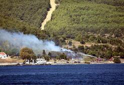 Geliboluda makilik yangını; 1 saatte söndürüldü