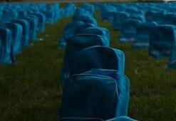 Okul çantaları mezar oldu
