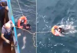 10 saat suda kaldı… Balıkçılar kurtardı