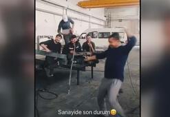 Trabzonspor taraftarı Daniel Sturridge dansını iple çekiyor