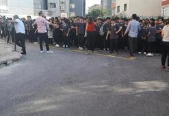 Sancaktepedeki okulda yangın paniği Öğrenciler tahliye edildi
