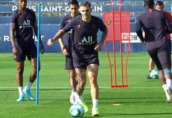Mauro Icardi, PSG antrenmanında hırsıyla dikkat çekiyor