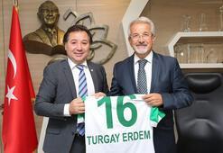 Bursaspor yönetiminden Başkan Erdeme ziyaret