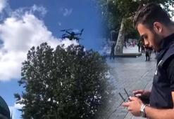 Sultanahmet Meydanı'nda turistlere drone ile anons