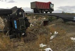 Son dakika: Ağrıdan korkutan haber Zırhlı askeri araç şarampole devrildi
