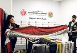 355 metre yılan derisi ile yakalandı