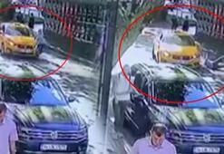 Yolda yürüyen kadına taksi çarptı